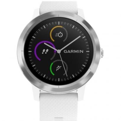 Умные часы Garmin Vivoactive 3 Silicone Steel/White