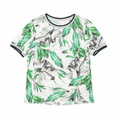 Блузка с цветочным рисунком из вискозы