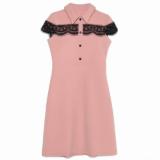 Платье приталенного силуэта с фактурным кружевом