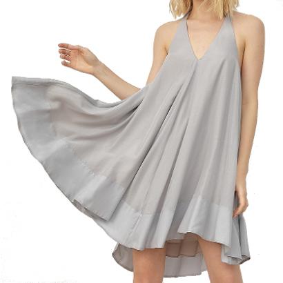 Платье-облако серого цвета