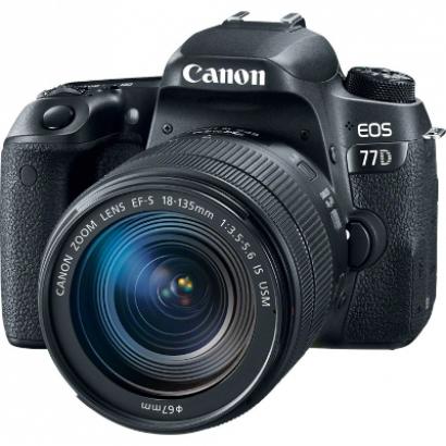 Зеркальный фотоаппарат Canon EOS 77D 18-135