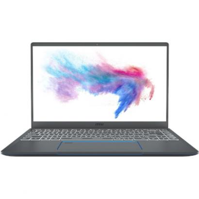 Ноутбук MSI Prestige 14 темно-серый