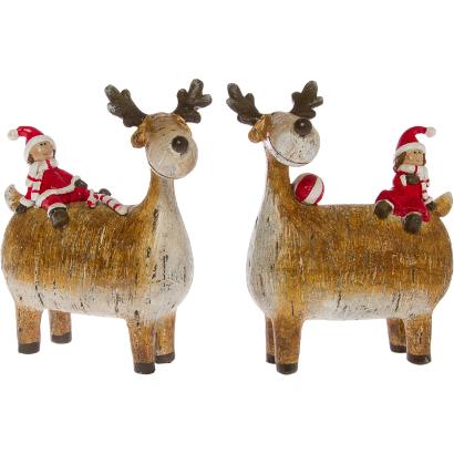 Декоративные праздничные олени