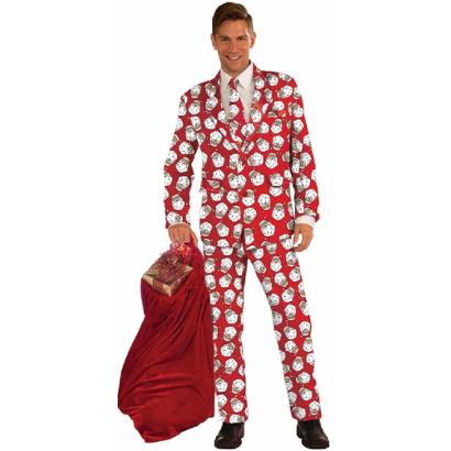Костюм Модный Санта в красном