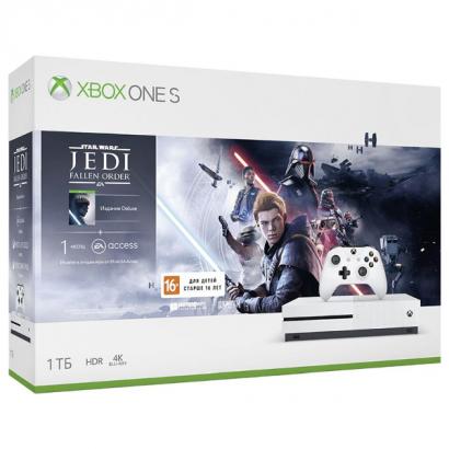 Xbox One S 1 TB + игра Звёздные Войны – Джедаи: Павший Орден