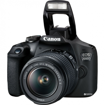 Зеркальный фотоаппарат Canon EOS 2000D 18-55 IS II